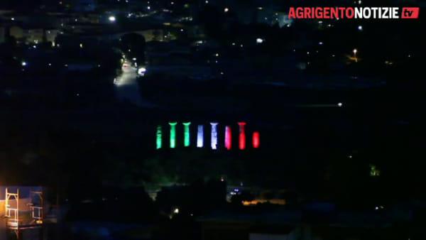"""Il tricolore """"veste"""" la Valle dei Templi, Sciarratta: """"Un grazie alle persone impegnate contro il Covid 19"""""""