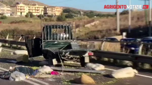Incidente a Siculiana, muore un pensionato: ecco le immagini