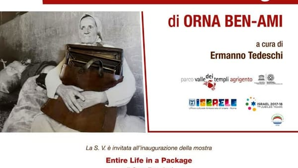 "Mostra ""Entire Life in a Package"", all'evento presente l'ambasciatore di Israele Ofer Sachs"