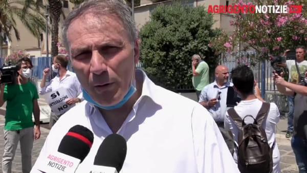 """Flash mob della Lega a Porto Emedocle, il partito di Salvini """"Stop agli sbarchi"""""""