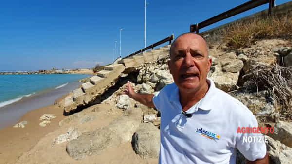 """L'erosione costiera aggredisce l'Agrigentino, MareAmico: """"Su 16 chilometri di costa, 7 sono inibiti"""""""