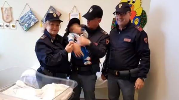 polizia neonato ferito2-2