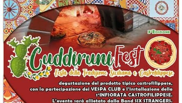 """""""Cuddiruni fest"""", lo show del cibo: ecco il programma"""