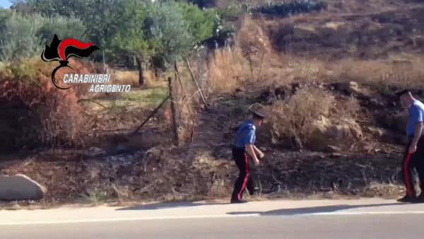 """""""Incendia le sterpaglie e scappa"""": impiegato di 45 anni rincorso e bloccato"""