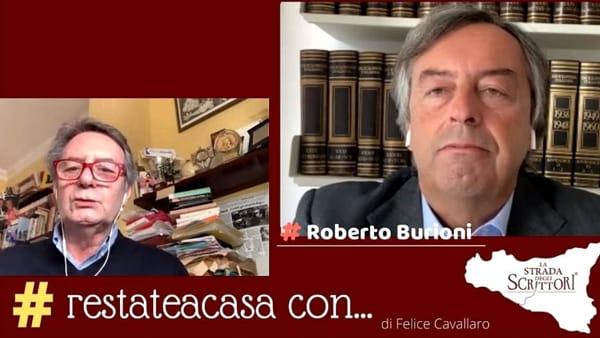 """""""Restate a casa con la Strada degli scrittori"""", l'ospite di Felice Cavallaro è Roberto Burioni"""