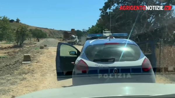 Migranti nascosti alla Valle dei Templi, arriva la polizia: fermati