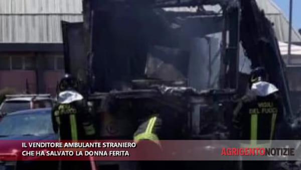 """Ha salvato una donna dopo l'esplosione, l'ambulante senegalese: """"Urlava aiuto, le ho strappato i vestiti in fiamme"""""""