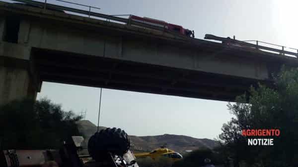 incidente sul lavoro ss115 fra villaggio mosè e palma2-2