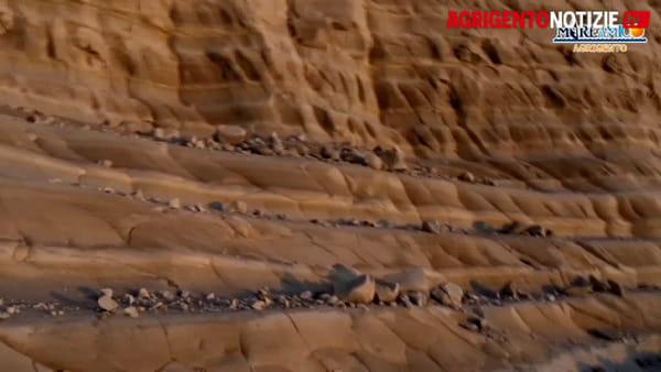 La marna bianca si sbriciola, ecco le immagini dei distacchi
