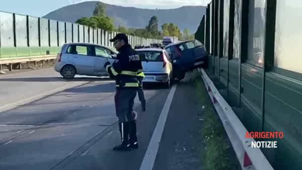 Frontale sulla Palermo-Agrigento, due morti: le immagini del luogo dell'incidente