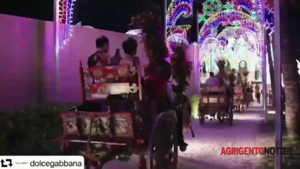 I gruppi folk e San Calogero conquistano Dolce&Gabbana