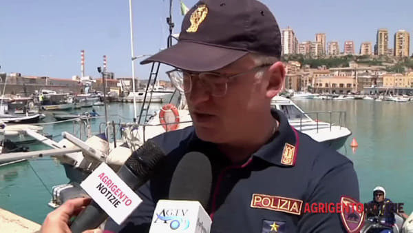 """Esserci sempre anche in mare, lo """"squalo"""" della squadra nautica della polizia vigila le coste agrigentine"""