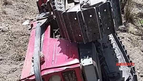 trattore incidente contrada deli a Favara2-2