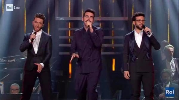 Il Volo sul palco dell'Ariston