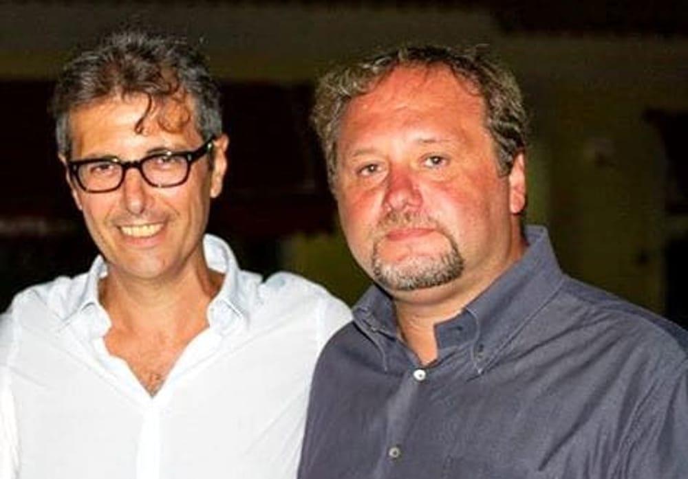 Lo scrittore Giuseppe Casa e il sociologo e giornalista Francesco Pira