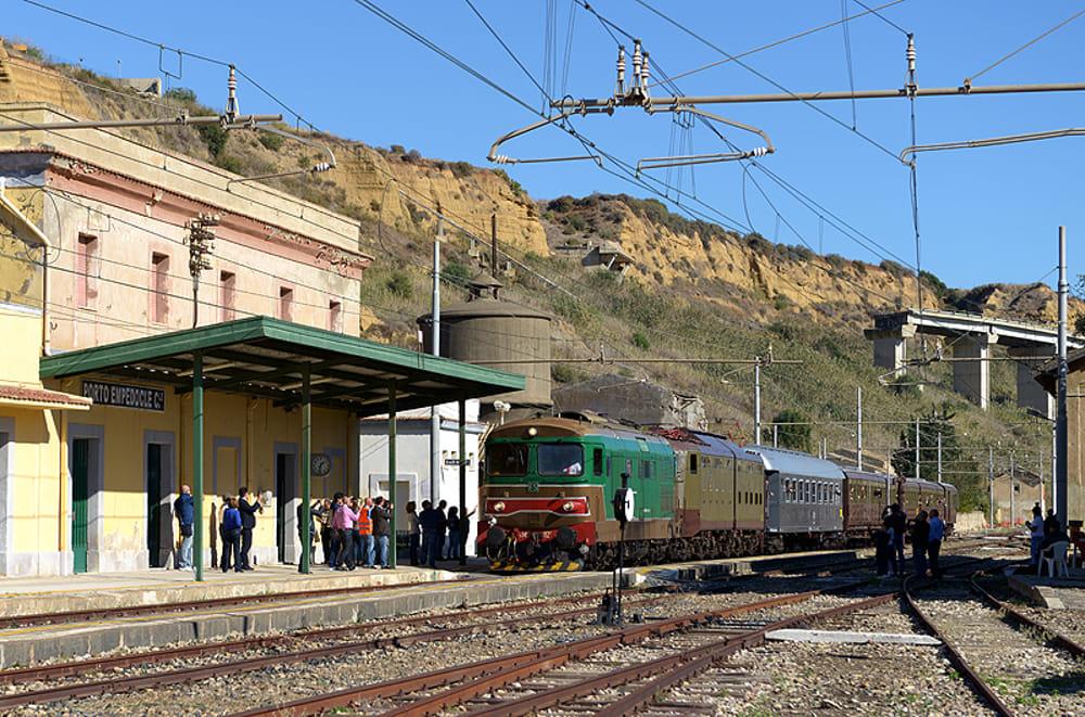La stazione di Porto Empedocle